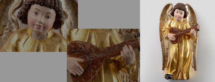 Anjo, escultura de madeira, Thomas Comploi. Italia. http://comploithomas.com/