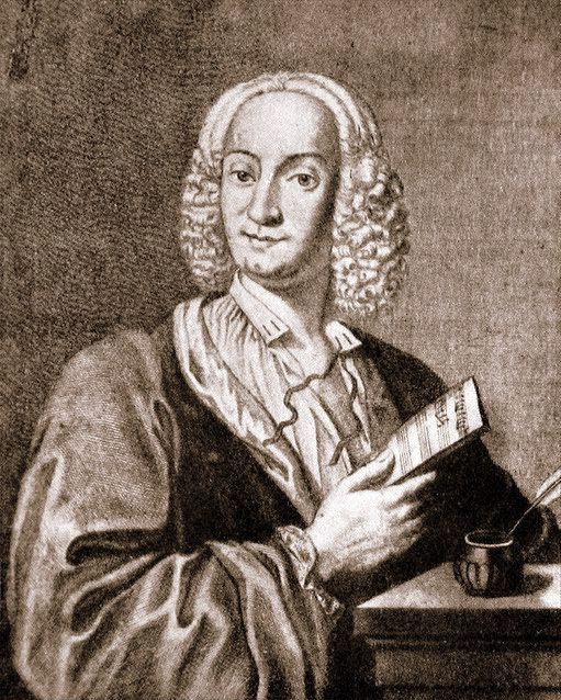 Antonio Vivaldi, gravura de François Morellon de la Cave; 1725