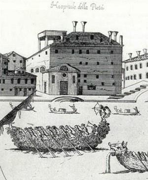 Il Pio Ospedale della Pietà na Riva Degli Schiavoni (1686), Veneza, coleção particular